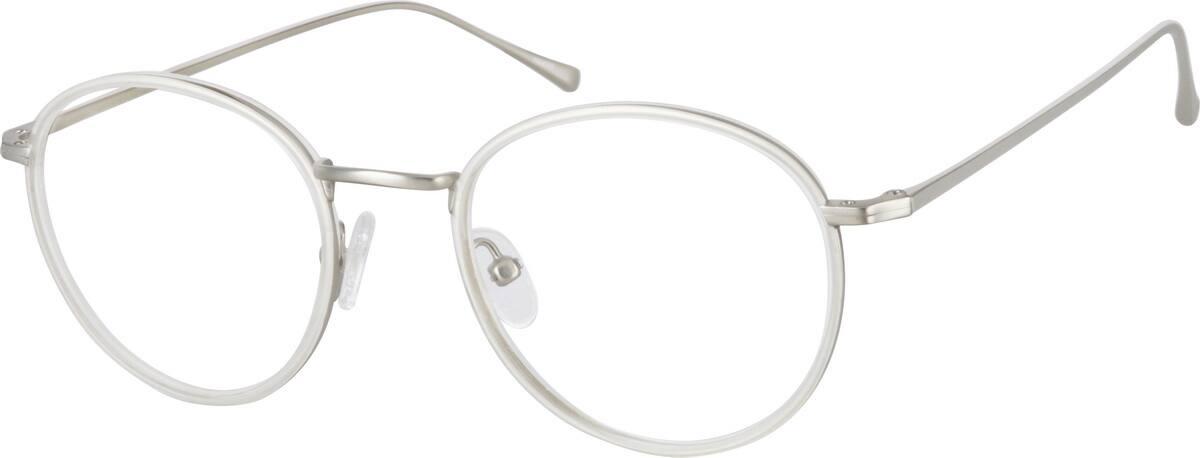 UnisexFull RimMixed MaterialsEyeglasses #7814319
