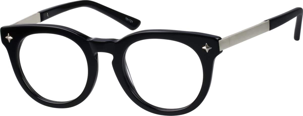 unisex-fullrim-mixed-materials-round-eyeglass-frames-781721