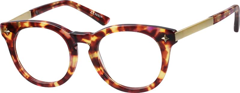 unisex-fullrim-mixed-materials-round-eyeglass-frames-781725