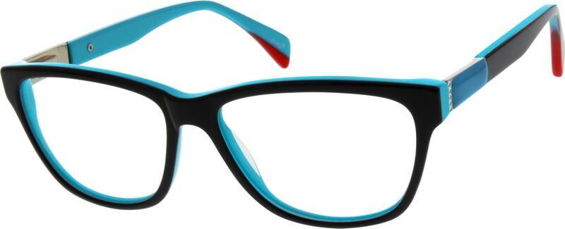 WomenFull RimMixed MaterialsEyeglasses #782019