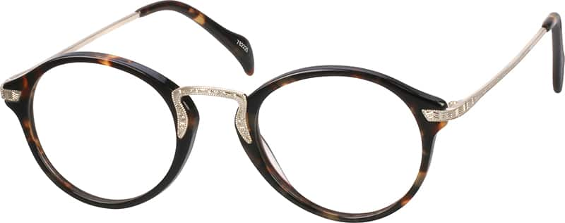Women Full Rim Mixed Materials Eyeglasses #782221