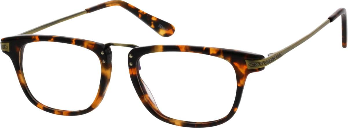 Women Full Rim Mixed Materials Eyeglasses #782325