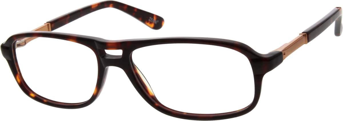 Men Full Rim Mixed Materials Eyeglasses #782721
