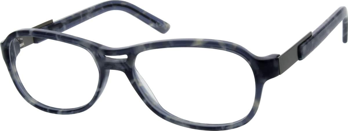 Unisex Full Rim Mixed Materials Eyeglasses #782926