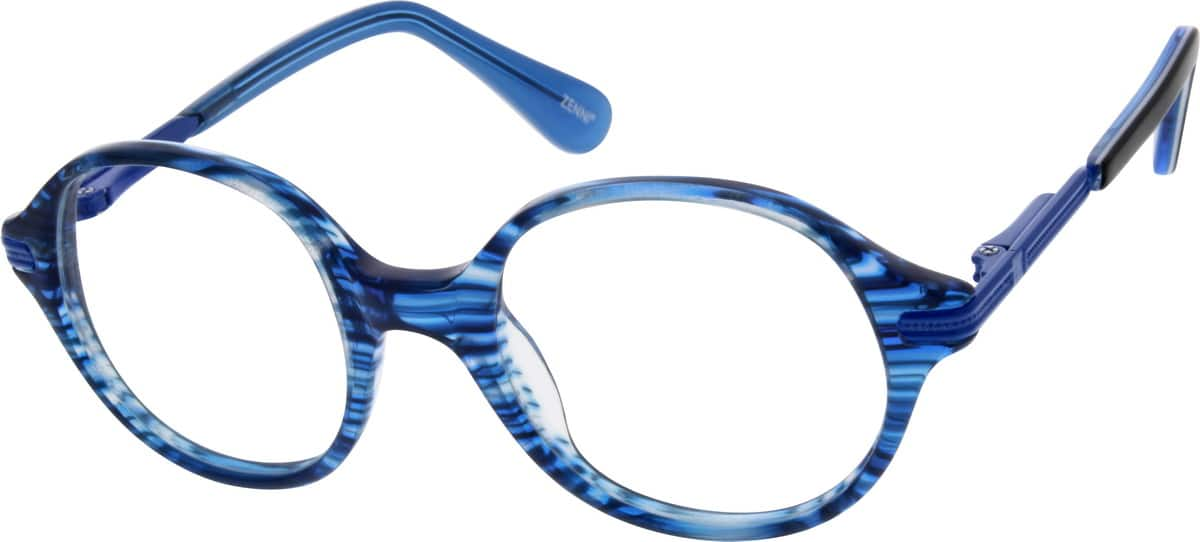 Kids Full Rim Mixed Materials Eyeglasses #783016