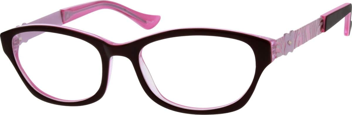 Women Full Rim Mixed Materials Eyeglasses #783221