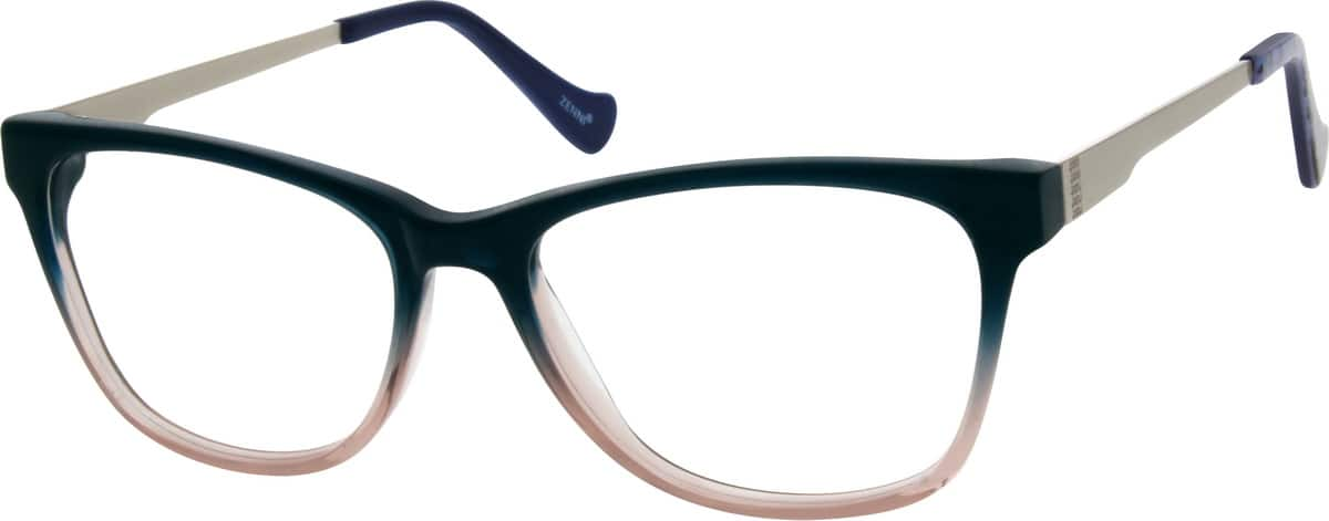 Women Full Rim Mixed Materials Eyeglasses #783318