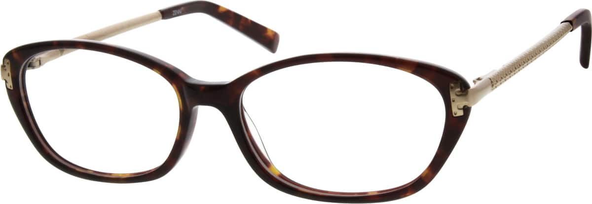 Acetate Full-Rim Frame with Stainless Steel Temples