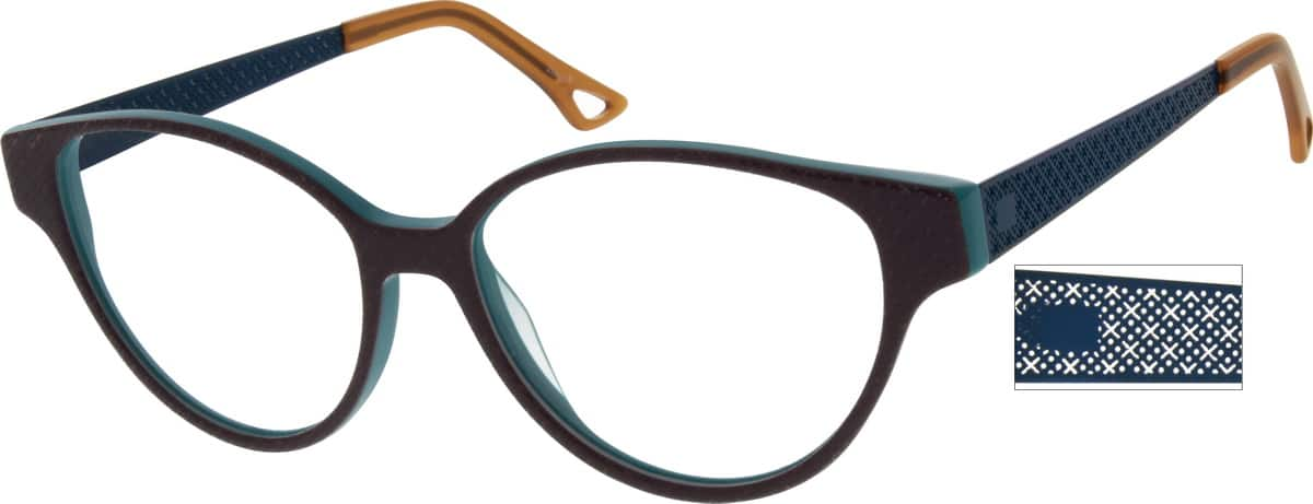 WomenFull RimMixed MaterialsEyeglasses #783621
