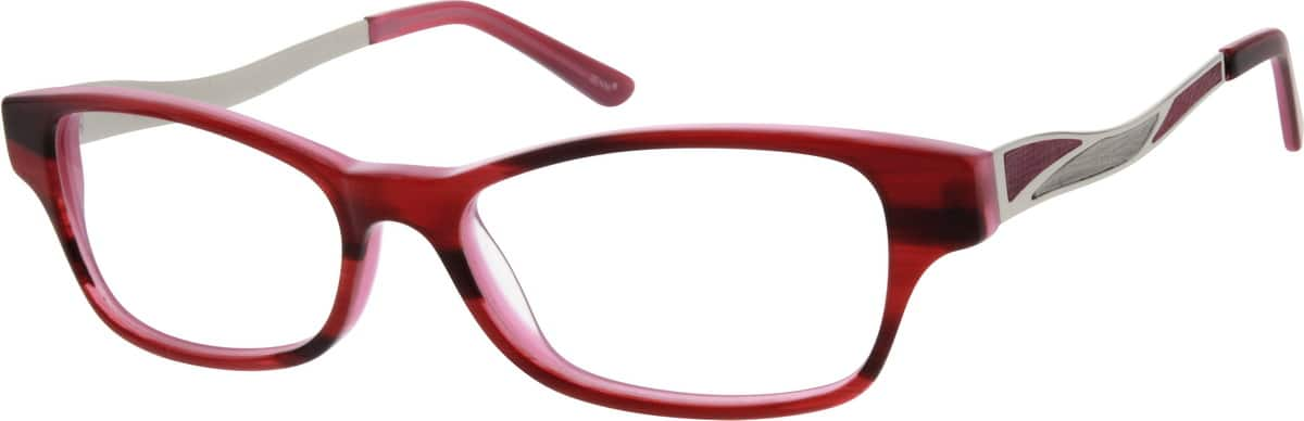 Women Full Rim Mixed Materials Eyeglasses #783718