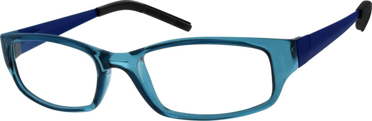 Kids Full Rim Mixed Materials Eyeglasses #783916