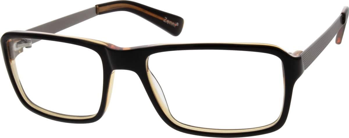 MenFull RimMixed MaterialsEyeglasses #784021