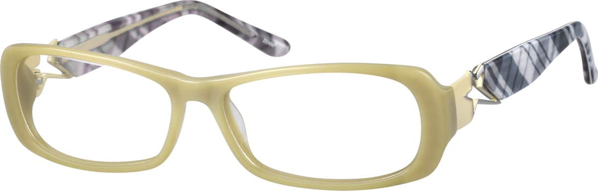 Acetate Full-Rim Frame with Metal Alloy Temples