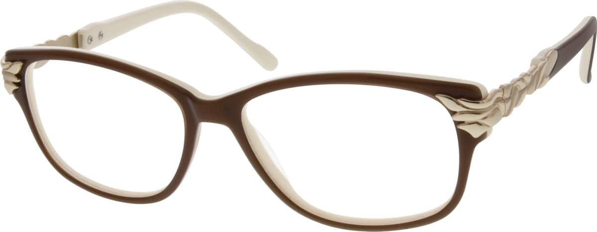 Women Full Rim Mixed Materials Eyeglasses #784321