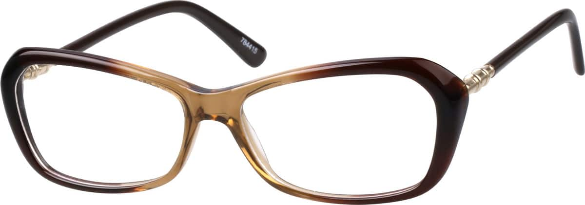 The Best Glasses Frame : Brown Acetate Full-Rim Frame with Metal Alloy Temples and ...
