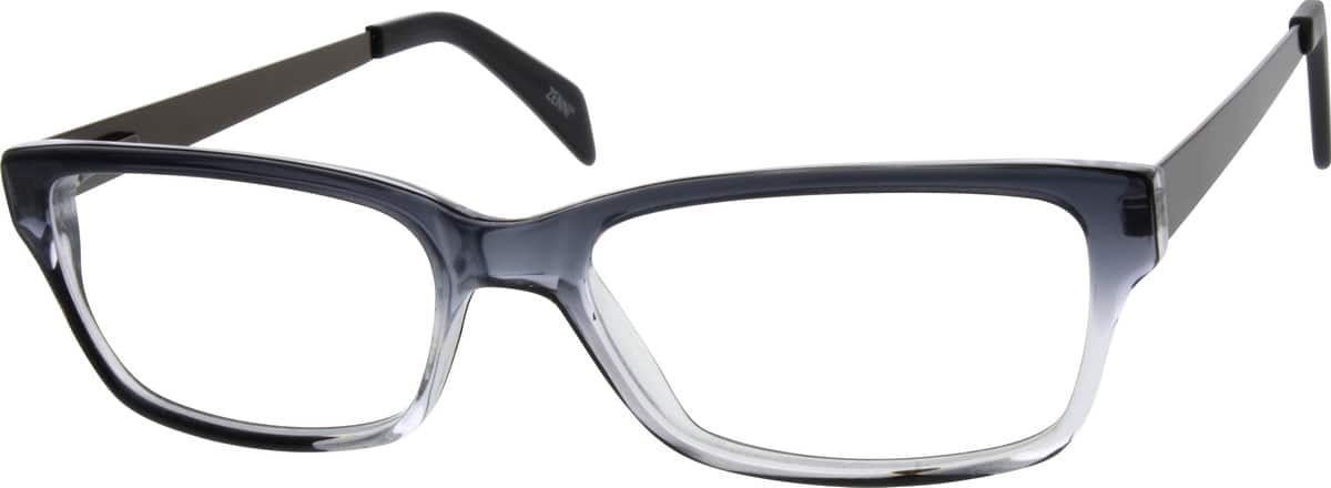 Unisex Full Rim Mixed Materials Eyeglasses #784823