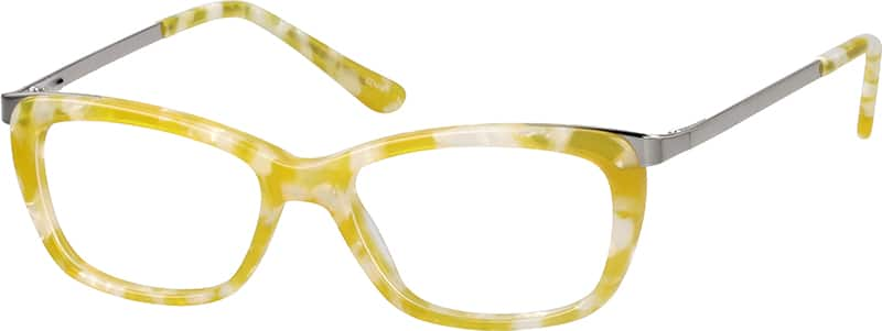 Children's Acetate Full-Rim Frame with Metal Alloy Temples and Spring Hinges