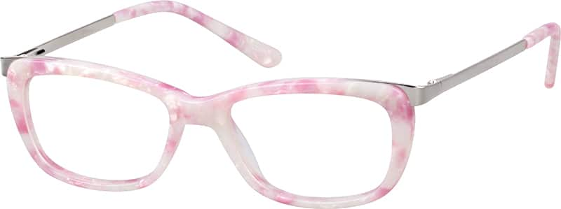 Girl Full Rim Mixed Materials Eyeglasses #785622