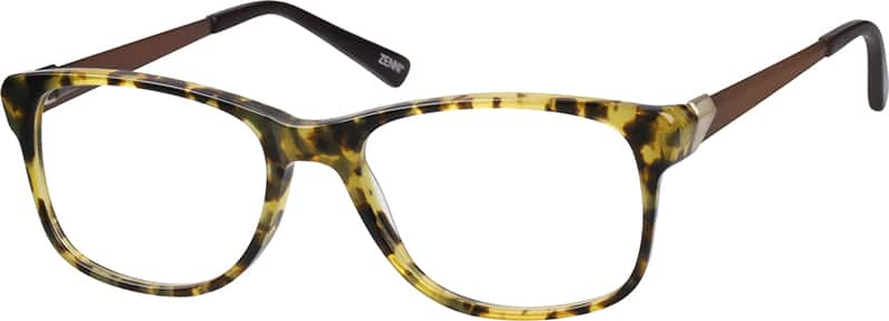 Acetate Full-Rim Frame withStainless Steel Temples
