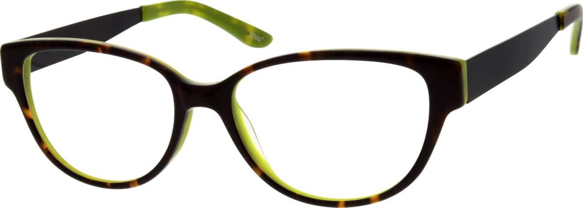 Women Full Rim Mixed Materials Eyeglasses #786125