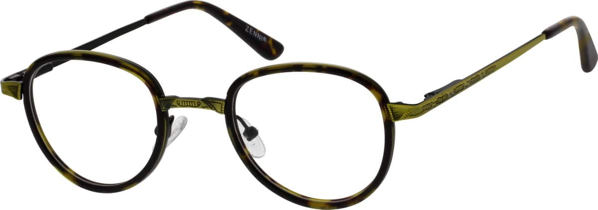 Metal Alloy and Acetate Full-Rim Frame with Spring Hinges