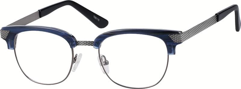 Browline Glasses Zenni Optical : Blue Browline Eyeglasses #7881 Zenni Optical Eyeglasses
