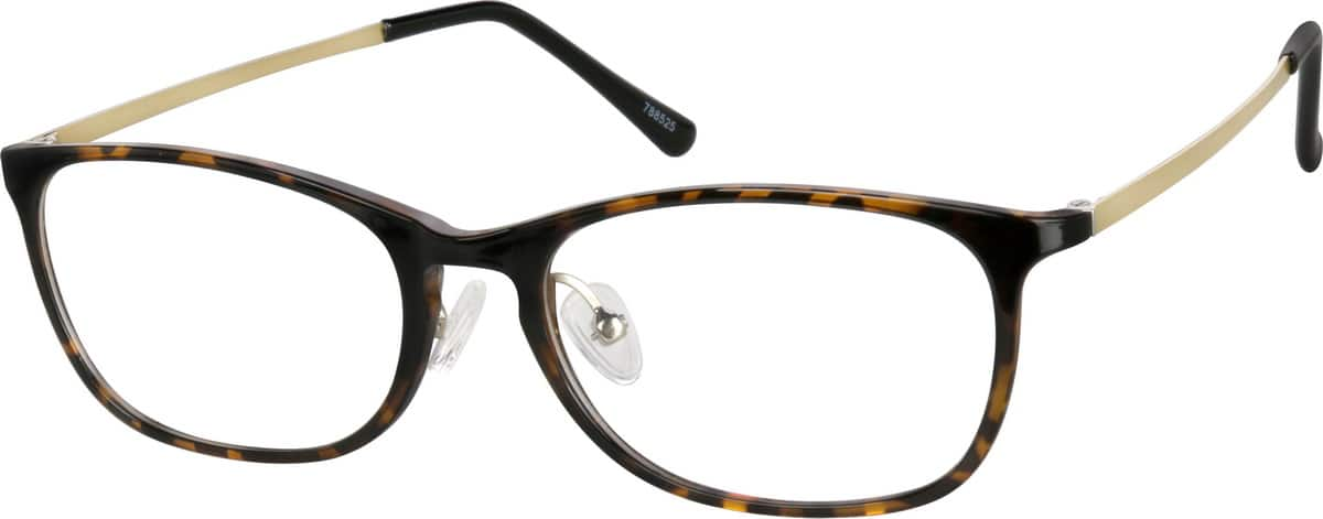 unisex-fullrim-mixed-materials-oval-eyeglass-frames-788525