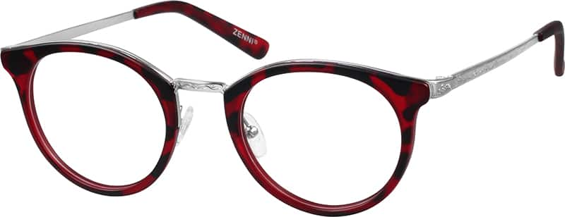 womens-fullrim-mixed-materials-round-eyeglass-frames-788618