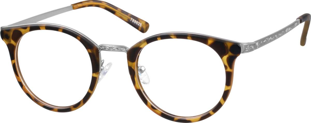 womens-fullrim-mixed-materials-round-eyeglass-frames-788625