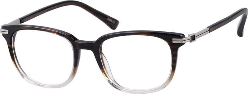 Mixed Materials Full-Rim Frame