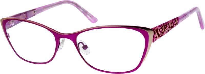 WomenFull RimStainless SteelEyeglasses #790421