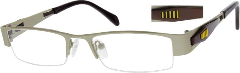 Men Half Rim Stainless Steel Eyeglasses #790511