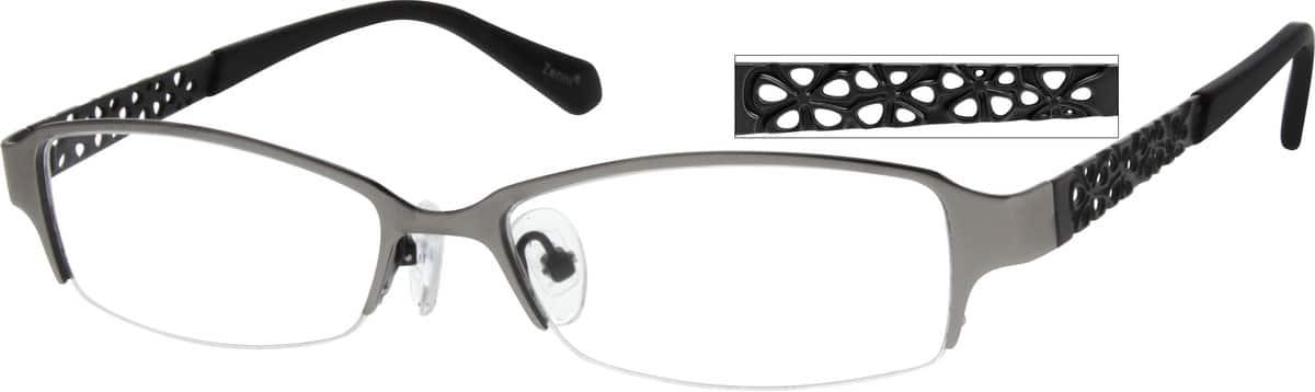 WomenHalf RimStainless SteelEyeglasses #791112