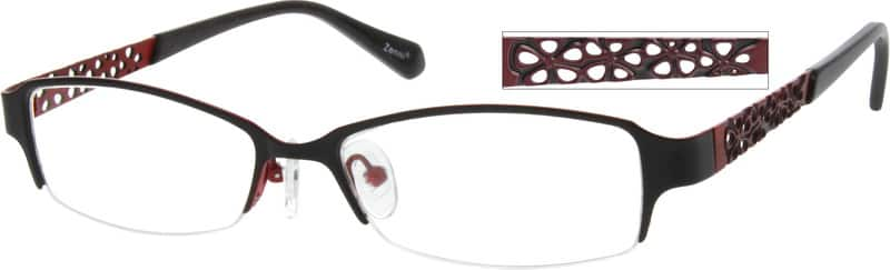 Women Half Rim Stainless Steel Eyeglasses #791112