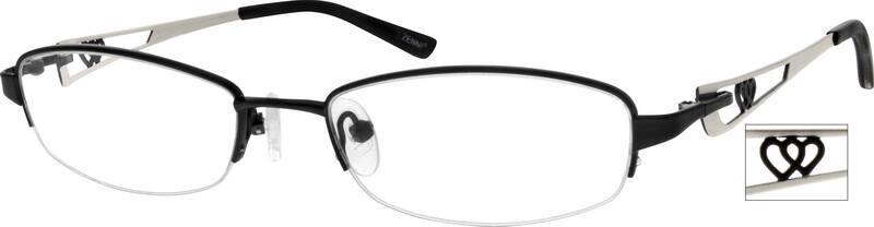 WomenHalf RimStainless SteelEyeglasses #791917