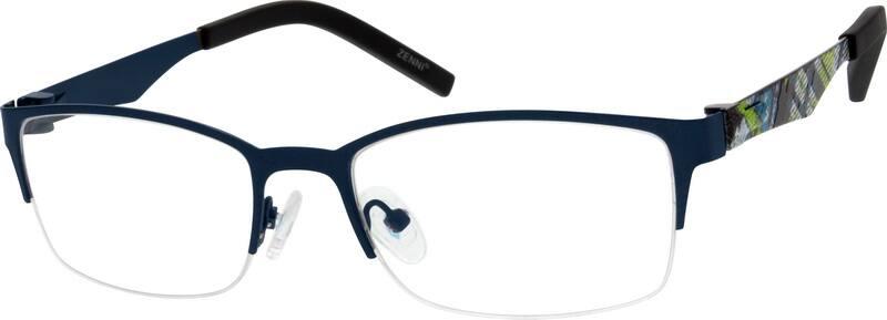 UnisexHalf RimStainless SteelEyeglasses #793516