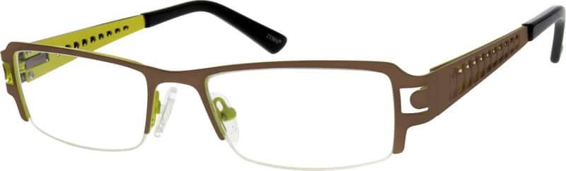 MenHalf RimStainless SteelEyeglasses #793715