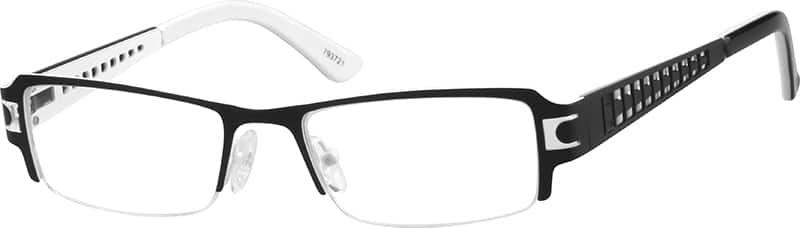 MenHalf RimStainless SteelEyeglasses #793721