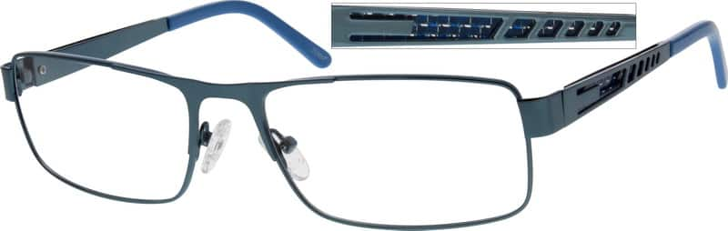 Men Full Rim Stainless Steel Eyeglasses #793815