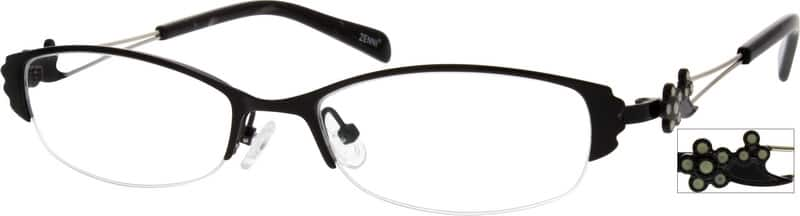 Women Half Rim Stainless Steel Eyeglasses #794921
