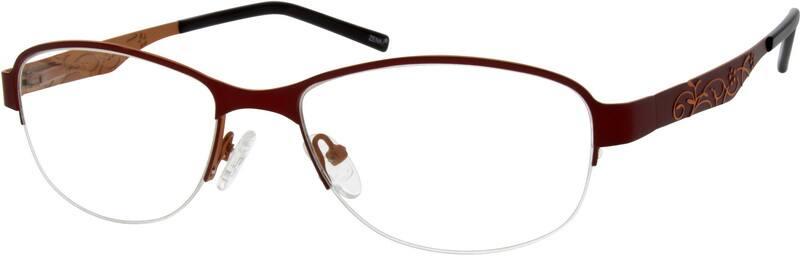 WomenHalf RimStainless SteelEyeglasses #795316