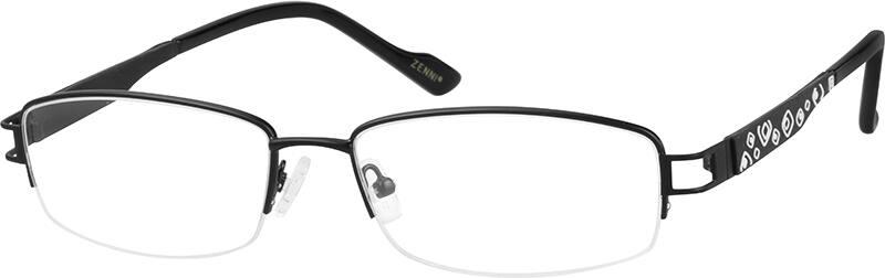 WomenHalf RimStainless SteelEyeglasses #795519