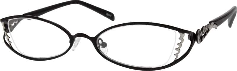 WomenHalf RimStainless SteelEyeglasses #795717