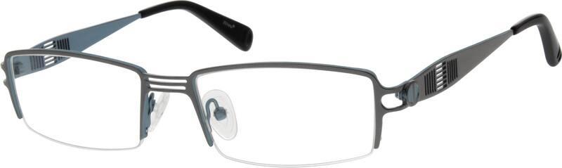 MenHalf RimStainless SteelEyeglasses #796112