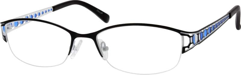 Women Half Rim Stainless Steel Eyeglasses #796616