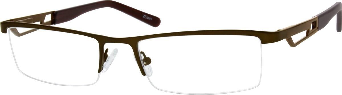 MenHalf RimStainless SteelEyeglasses #798815