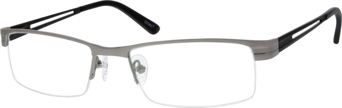 MenHalf RimStainless SteelEyeglasses #799021