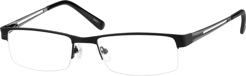 mens-half-rim-stainless steel-rectangle-eyeglass-frames-799021