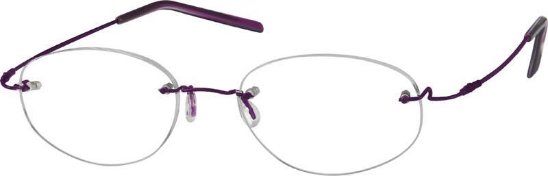 WomenRimlessMemory TitaniumEyeglasses #804916