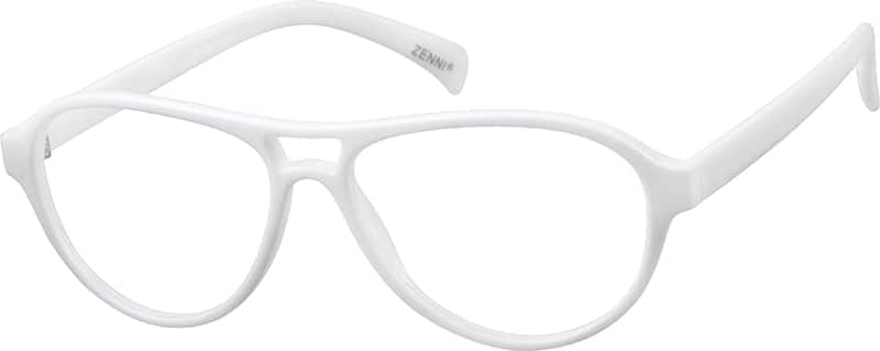 White 8060 Plastic Full-Rim Frame (Same Appearance as Frame #2360)